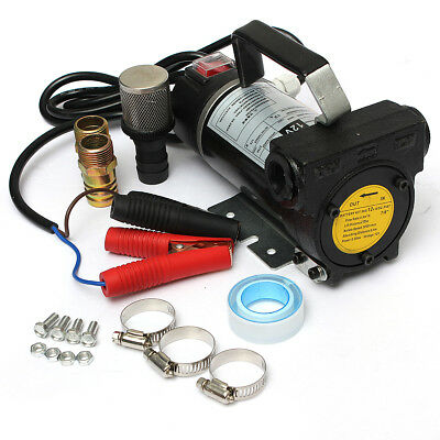 12V Portable Fuel Diesel Pump Oil Transfer Pump Self Priming Set 45L/Min 200W