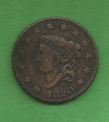 1820 Matron Head Large Cent, Large Date - 197 Years Old!!