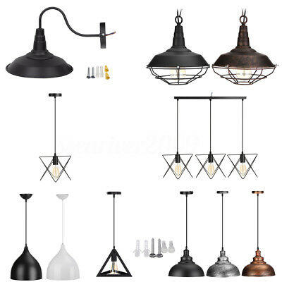 Metal Vintage Ceiling Light Modern Chandelier Pendant Kitchen Bar Fixture Lamp