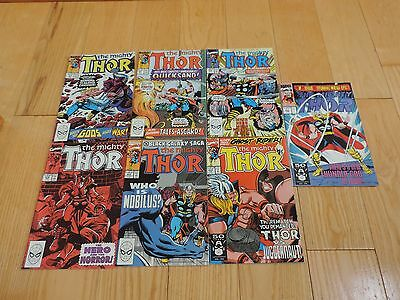 THOR COMIC BOOKS 7 OLD MARVEL SUPERHERO COMICS #397-433 Excellent free shipping