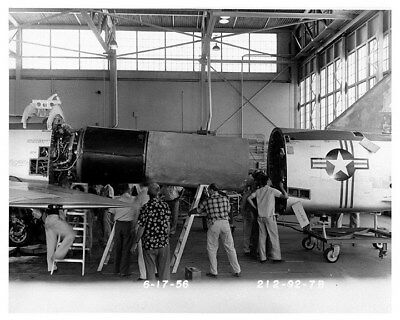 1956 North American Aviation Jet Engine Factory Photograph ca8748
