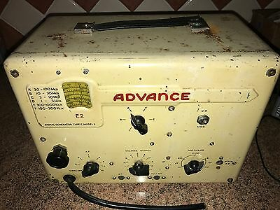 Vintage Signal Generator,Advance E2,Valves Missing,Reasonable General Condition