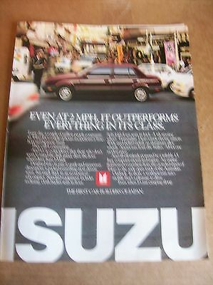 Original 1986 Isuzu Magazine Ad - Even At 2 MPH...