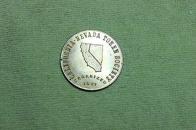1974-Token-Coin-Medal-California/nevada Token Society-Williges-Wheatland, Ca.