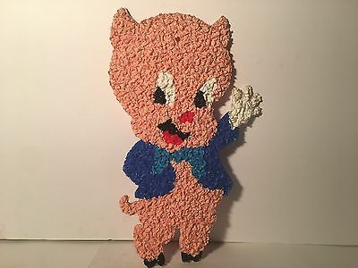 New Handmade Melted Plastic Popcorn Seasonal Decoration Porky The Pig