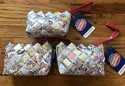 3 Wristlets Purses Double Bubble Gum Wrapper bags fun Gifts candy