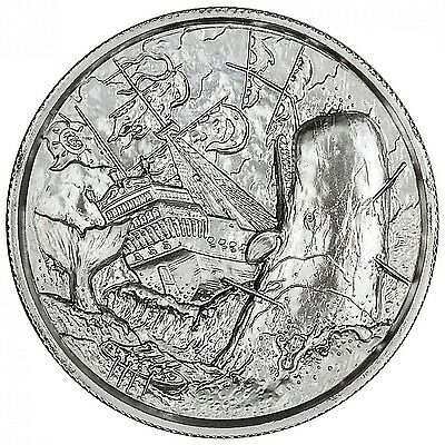 2~Oz ~.999 Silver ~ White Whale Privateer ~ Ultra High Relief ~ $55.88 ~ Sale
