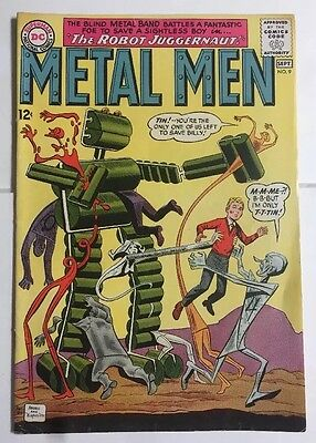 Metal Men 9 Dc Comics Good Shape See Pics  1964