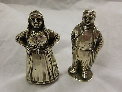 Fa Dahlia Amsterdam Dutch Silver Figural Salt & Pepper Shakers Mid 20Th Century
