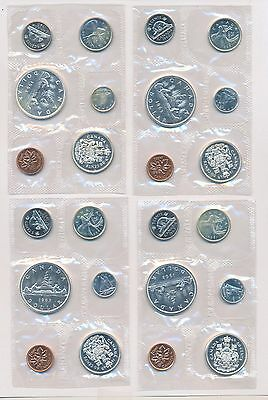 1963 Canada Proof Like Silver Coin Set 4 Sets