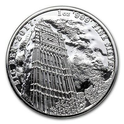 2017 ~ £2  Great Britain ~ .999  Pure Silver ~ Big Ben ~ U.k. Landmarks ~ $28.88