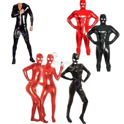 Men's/Women's  Halloween Party Body Suit PVC Wet Look Leather Clubwear Costumes