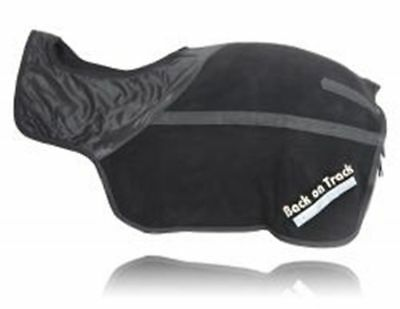 """BACK ON TRACK Equine Horse Exercise Fleece Sheet Heat Therapy Black 81"""""""