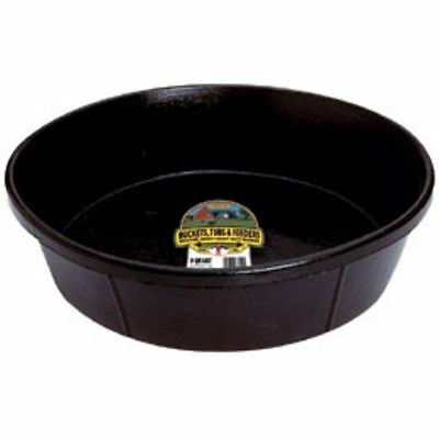 Little Giant Feed Hog Pan Rubber Livestock Pets Farm Ranch Tough 8 Quart Black