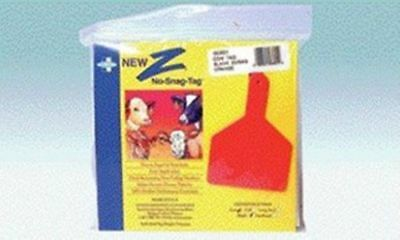 Z Cow Tag Blank Orange 25 Count Easy Application Prevent Disease Transfer