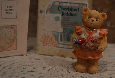 Cherished Teddies~Barbara~Giving Thanks For Our Family~Euc~Cute~Collectible~Mom!