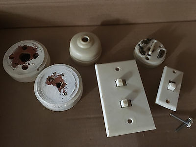 1950s Clipsal electrical fittings