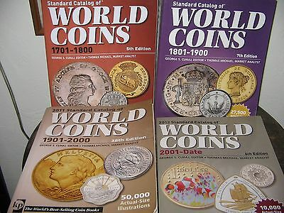Standard Catalog World Coins 1701-2011 4 Books Krause Publications
