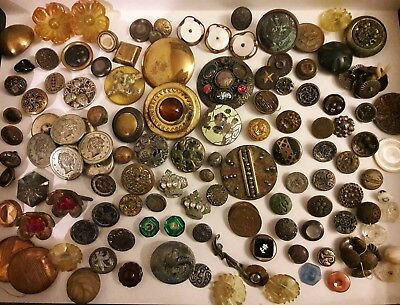 Antique Vintage Buttons/Need repairs/Possible Parts/Recycle