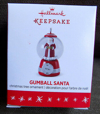 Hallmark Gumball Santa Keepsake Miniature Xmas Tree Ornament 2016 Mini