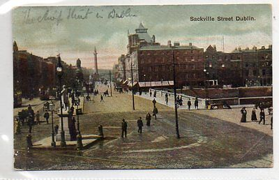 """""postcard Sackville Street,dublin,ireland,dated 1904"""""
