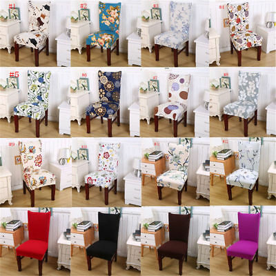 Dining Room Elastic Stretch Chair Seat Cover Décor Case Slipcovers Removable