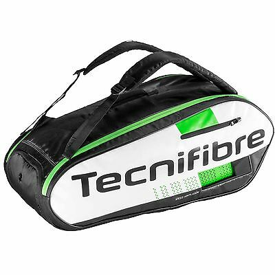 Tecnifibre Squash Green Practice Two Compartment 9 Racket Bag