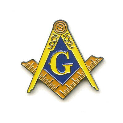 Masonic G Mason Freimaurer Badge Metall Button Luxus 3D Pin Anstecker 0512 A