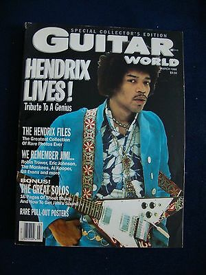 Guitar World Magazine March 1988 Jimi Hendrix Special Collector's Edition