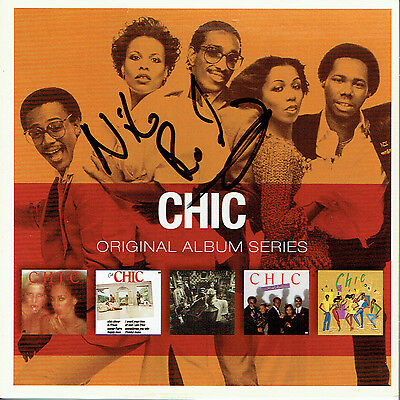 Nile Rodgers Chic Hand Signed Autographed CD Album Outer Sleeve