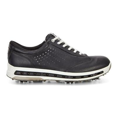 Ecco Golf 2017 Cool GORE-TEX Leather Waterproof Men's Golf Shoes (Black/White)
