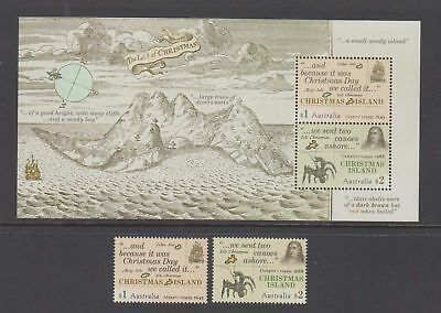 Christmas Island 2017 Early Voyages mint unhinged set 2 stamps + mini sheet