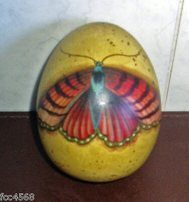 Vintage Australian Hand Painted Butterfly Blown Emu Egg