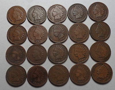 20 Indian Head Cents,very Nice Lot!!!(C)