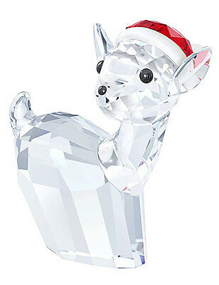 Swarovski Crystal Doe With Santa's Hat 5135853.new In Box.