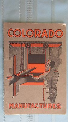 1904 Colorado Manufacturing Companies Book-Mining-Industry-Coal & Oil-