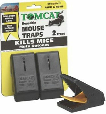 Motomco Tom Cat Snap Mouse Mice Trap 2 Pack Simple Easy to Use Reusable