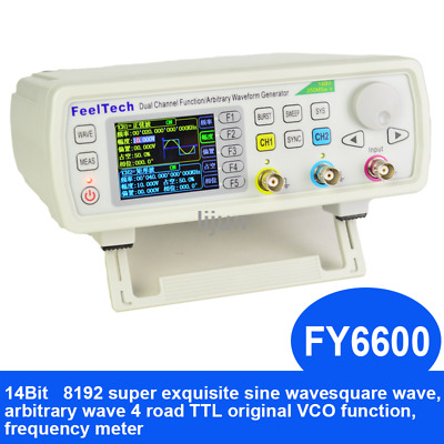 FY6600-60MHZ Programmable Dual Channel DDS Function Arbitrary Waveform Generator