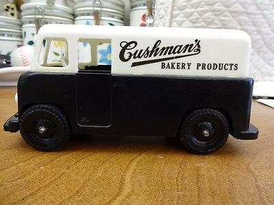 Rare Vintage 60's Cushman Bakery Delivery Truck Plastic Bank & Free Shipping !!