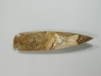 "Spearhead Spear 6.3"" Point Head Flint Stone Rock Arrowhead Lance Blade Knife"