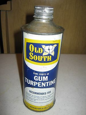 one U S. Pint Vintage Old South Gum Turpentine Advertising Tin Can EMPTY ONLY