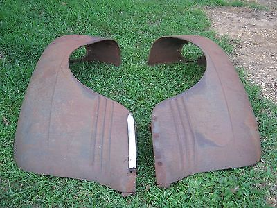 pair Antique Vintage Rustic Rusty 1940's 1950's  Plymouth Car Fender Only