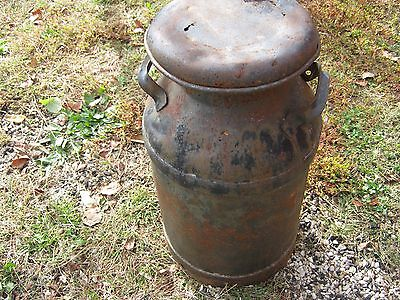 """Vintage Primitive Rustic Rusty Dairy Milk Can 24"""" tall good decor only lot holes"""