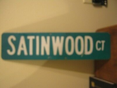"Vintage ?  Aluminum Retired Street Sign Satinwood Ct 6"" x 24"""
