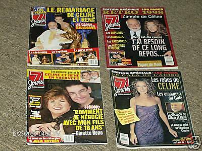4 Pc. Celine Dion 7 Jours Magazine Robes Marriage #5