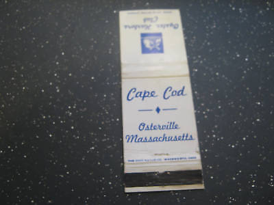 Vintage Cape Cod Oyster Harbors Club Osterville Massachusetts matchbook