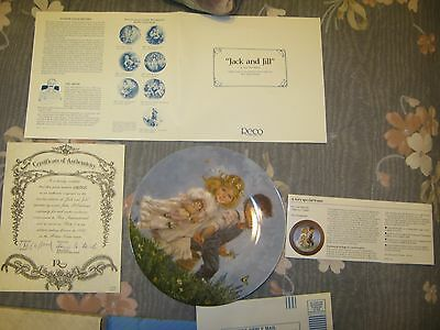 Reco Int. CO. Jack and Jill Plate, Certificate of Authenticity Collection