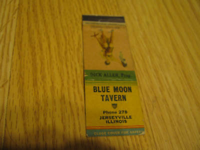 Pinup? Blue Moon Tavern Ph 278 Illinois Miss-Placed vintage matchbook