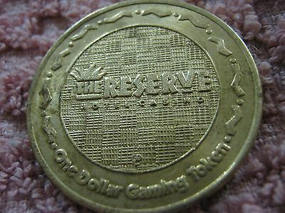 Vintage The Reserve Hotel Casino Vegas Nevada Gaming Token One Dollar Coin