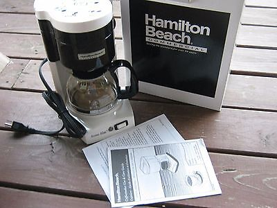 $35.00 each New Hamilton Beach 4 Cup White Commercial Coffee Maker HDC500W